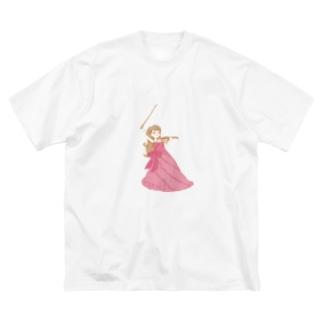 りりこグッズ全身 Big silhouette T-shirts