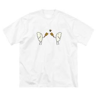 羽根つき餃子 Big silhouette T-shirts