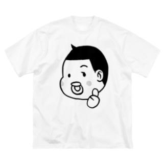 とーちんロゴ(親指グー) Big silhouette T-shirts