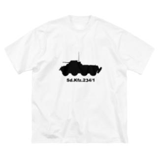 8輪装甲車 Sd.Kfz.234/1(黒) Big Silhouette T-Shirt