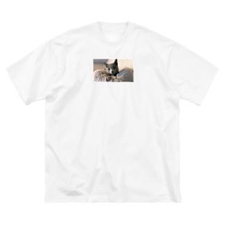 寝起きざらこ Big Silhouette T-Shirt