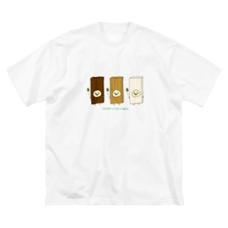 砂糖6杯分の木のコスプレ Big silhouette T-shirts