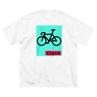 ピストバイク Big Silhouette T-Shirt