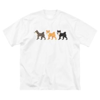 シバホリック(行進) Big silhouette T-shirts