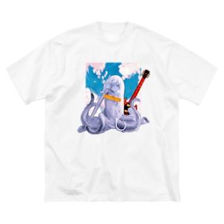ロックタコ少女(B02)002  Big Silhouette T-Shirt