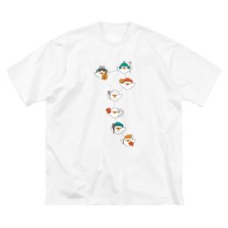 シチフクドリ (ケンシロウ) Big Silhouette T-Shirt