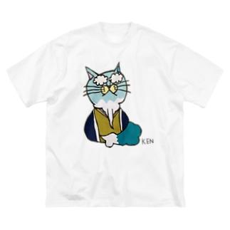 NEKO KEN おじいちゃんネコTシャツ Big Silhouette T-Shirt