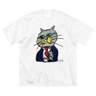NEKO KEN お父さんネコTシャツ Big Silhouette T-Shirt