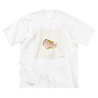 桜もちうお Big silhouette T-shirts