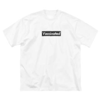 ワクチン接種済 Big silhouette T-shirts