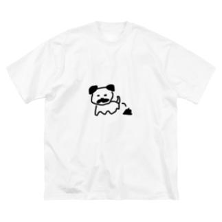 手描きグッズのお店のうんちパグ Big Silhouette T-Shirt