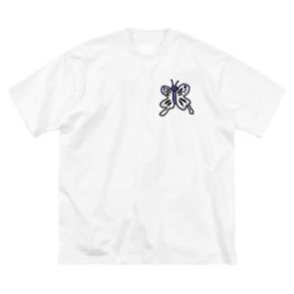 毒あるちょうちょう Big Silhouette T-Shirt