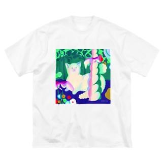 いとう瞳 Big silhouette T-shirts