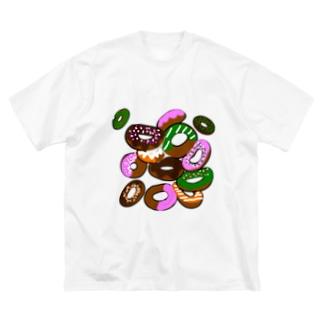 期間限定(ドーナッツ) Big silhouette T-shirts