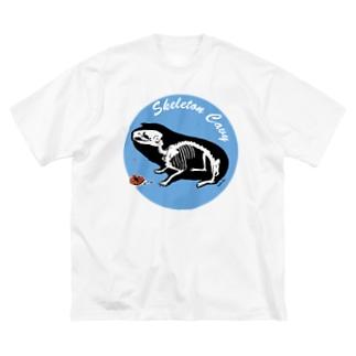スケルトンモルモット Big T-shirts