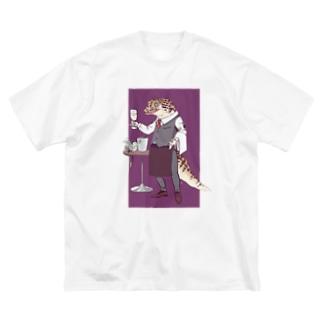 ヒョウモンソムリエモドキ Big silhouette T-shirts