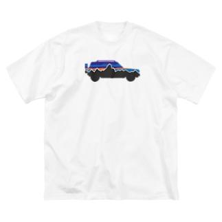 rasheeniaシルエット Big silhouette T-shirts