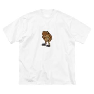 カエル(フォーマル) Big silhouette T-shirts