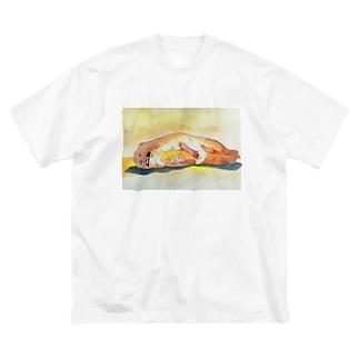 熱帯夜でねむれない Big silhouette T-shirts