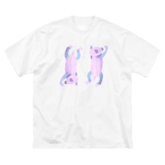 祝☆双子パンダ Big Silhouette T-Shirt