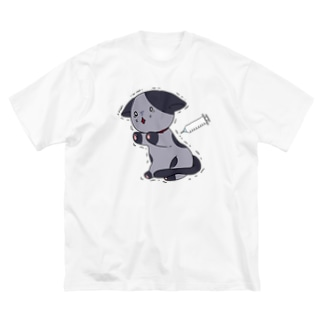 注射怖い猫(文字なし) Big Silhouette T-Shirt