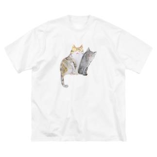 ねこちゃん姉妹 Big Silhouette T-Shirt
