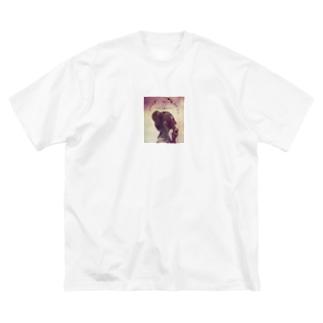 PURPLE Big silhouette T-shirts