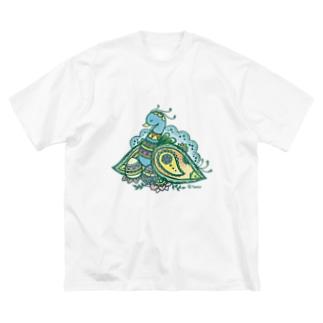ヘナアート 孔雀 Big Silhouette T-Shirt