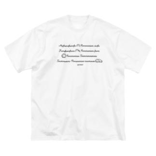 もふもふもふもふポメラニアン Big T-shirts