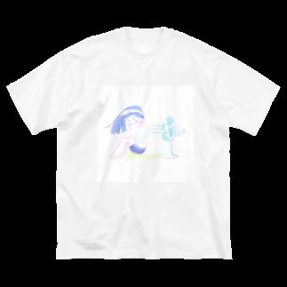 くに井 -921-のせんぷうき Big silhouette T-shirts