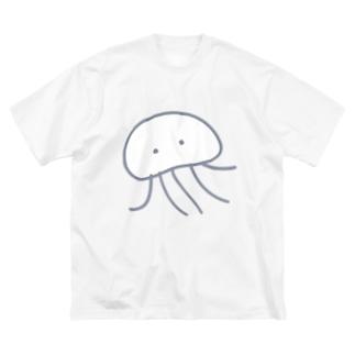 くらげさん Big silhouette T-shirts