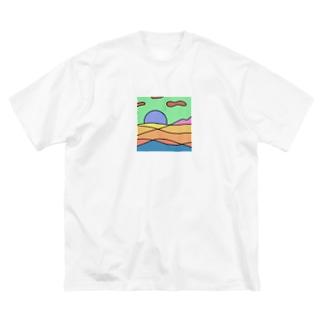 背景 Big silhouette T-shirts