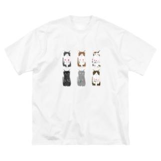 6匹の猫ちゃん Big Silhouette T-Shirt