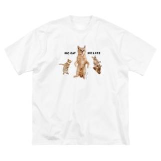 梅ちゃん❷&シャー顔. Big silhouette T-shirts