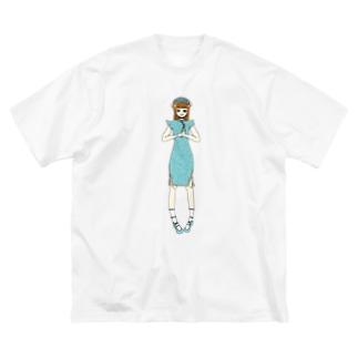 かえで(チャイナドレス) Big silhouette T-shirts