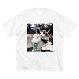 クリームソーダと猫 Big T-shirts
