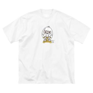 はいきんりょくチェック*M配置 Big T-shirts