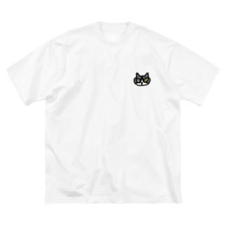 しろくろちゃん Big silhouette T-shirts