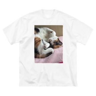 愛猫モモ Big Silhouette T-Shirt