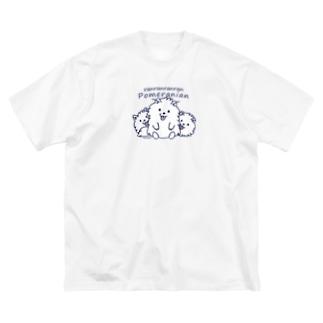 らんらんらんらんポメラニアン*M配置 Big T-shirts