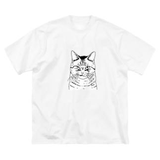 目つきの悪い猫しろ Big T-shirts