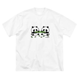 仲良くもぐもぐ Big Silhouette T-Shirt