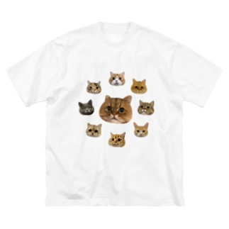 たぬちゃんず2 Big silhouette T-shirts