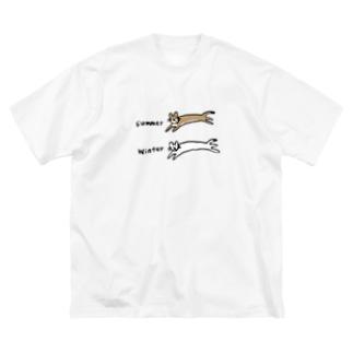 夏と冬のオコジョさん Big Silhouette T-Shirt
