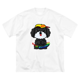 ちんちんトイプードル Big silhouette T-shirts