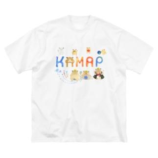 【KAMAP】カラフルKAMAP Big Silhouette T-Shirt