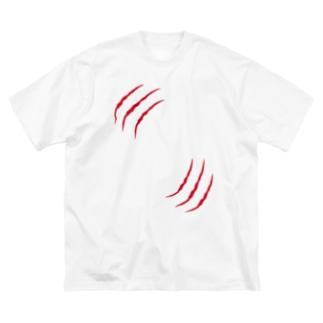 引っ掻き傷 Big silhouette T-shirts