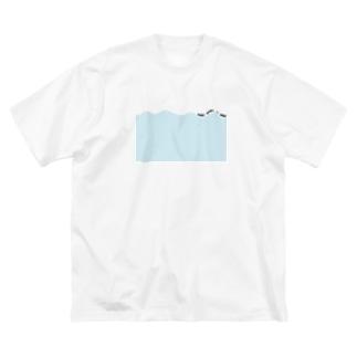 NAMI NAMI NO NAMI Big silhouette T-shirts