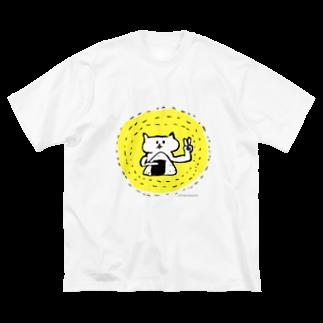 トニチャンブリストルのお店のおにぎりピース Big silhouette T-shirts