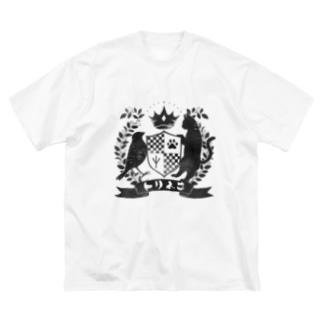 トリネコエンブレム Big silhouette T-shirts